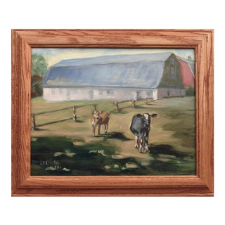 """""""Vail's Farm"""" Oil Painting on Canvas For Sale"""
