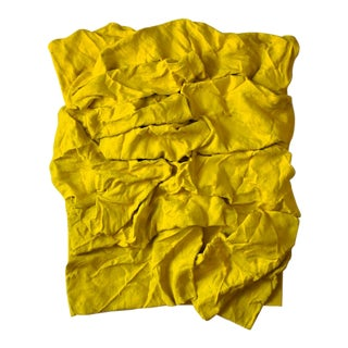 """Senegal Yellow Folds"" Mixed Media Wall Sculpture by Chloe Hedden For Sale"