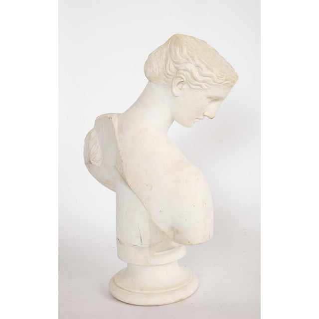 Antique Italian Neoclassical Marble Bust of Psyche, by Giuseppe Carnevale For Sale In New York - Image 6 of 13
