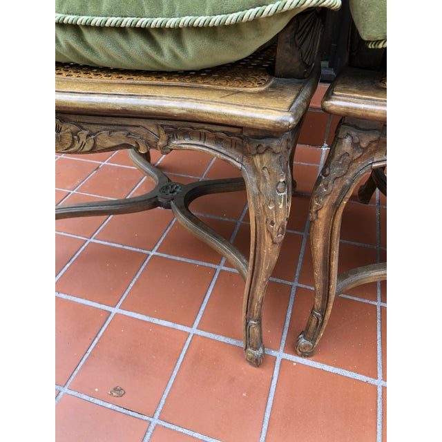 French Caned Chairs - a Pair For Sale - Image 10 of 12