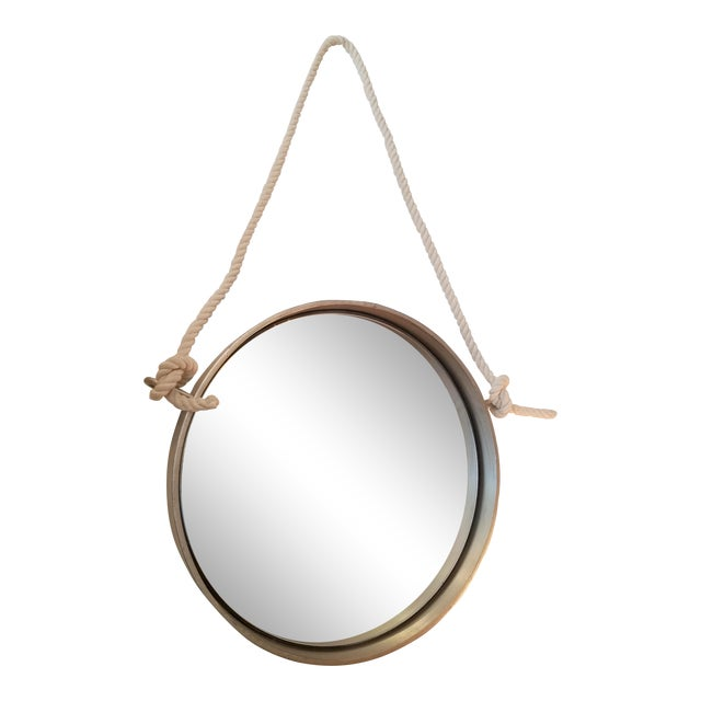 Restoration Hardware Porthole Round Mirror For Sale