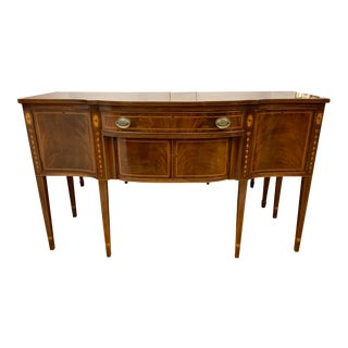 Kittinger Mahogany Inlay Buffet Sideboard Credenza For Sale