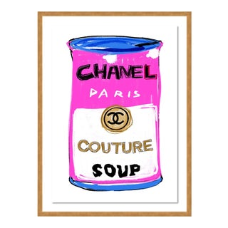 Chanel Couture Soup by Annie Naranian in Gold Frame, Medium Art Print For Sale