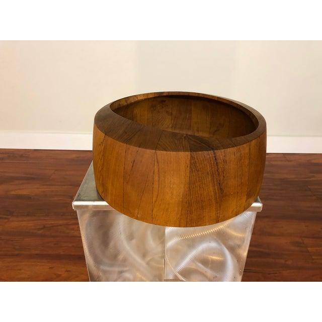 Jens Quistgaard Staved Teak Bowl by Dansk For Sale In Seattle - Image 6 of 9