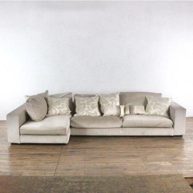Minotti Minotti Mid Century Modern Style Italian Upholstered Sectional Sofa For Sale - Image 4 of 13