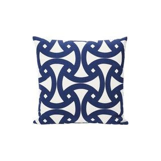Schumacher Indoor/Outdoor Double-Sided Pillow in Santorini Print