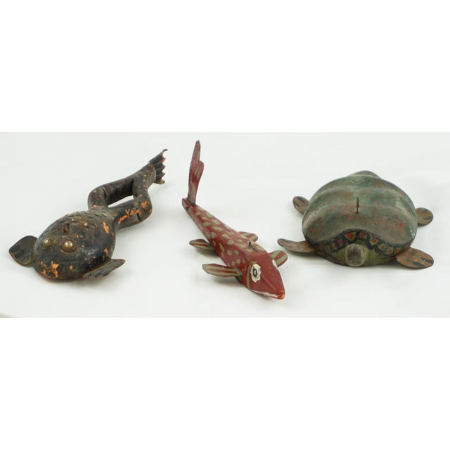 Hand Painted Folk Art Ice Fishing Decoys For Sale - Image 9 of 9