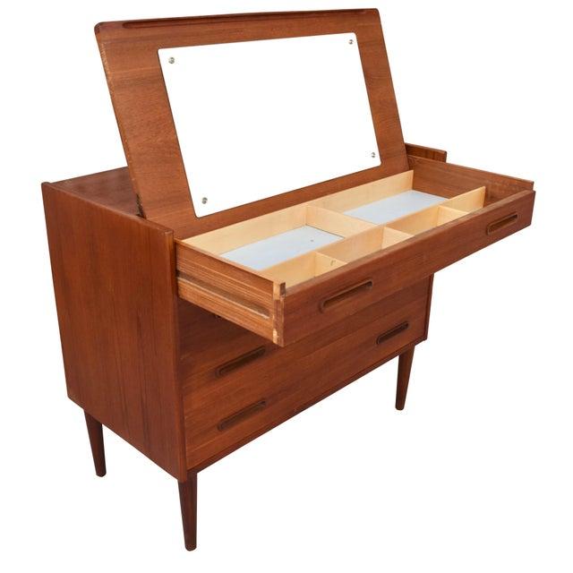 Birch Danish Modern Teak Vanity Dresser For Sale - Image 7 of 10