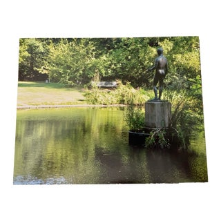 """""""Tuileries Pond and Gardens, Paris"""" Contemporary Plein Air Photograph Print by Louise Weinberg For Sale"""