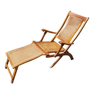 1950s Mid-Century Folding Deck Chair For Sale