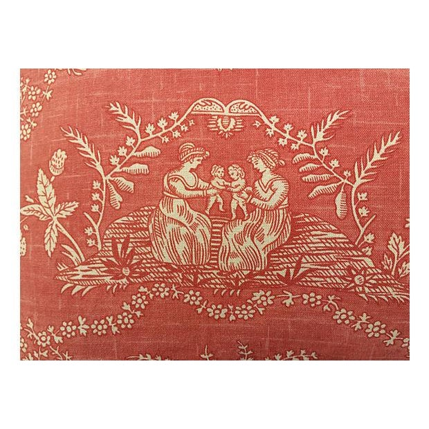 English Jane Austen Toile Pillow - Image 2 of 5