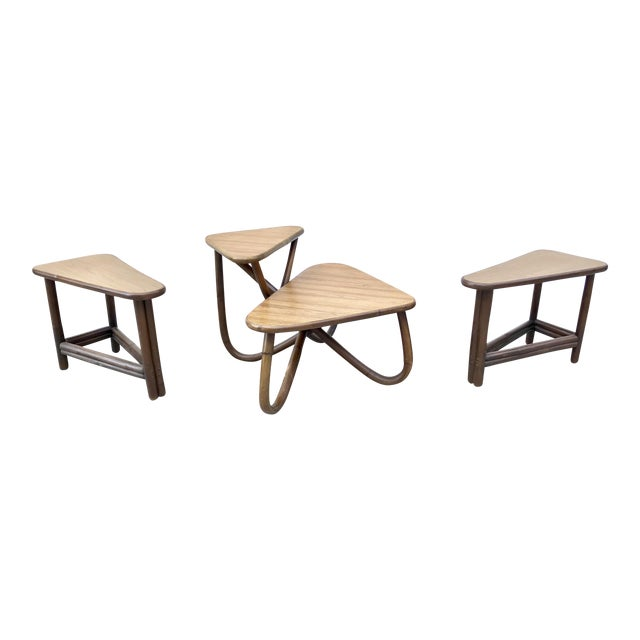 Vintage Bamboo Side & Coffee Table Set - Set of 3 - Image 1 of 7