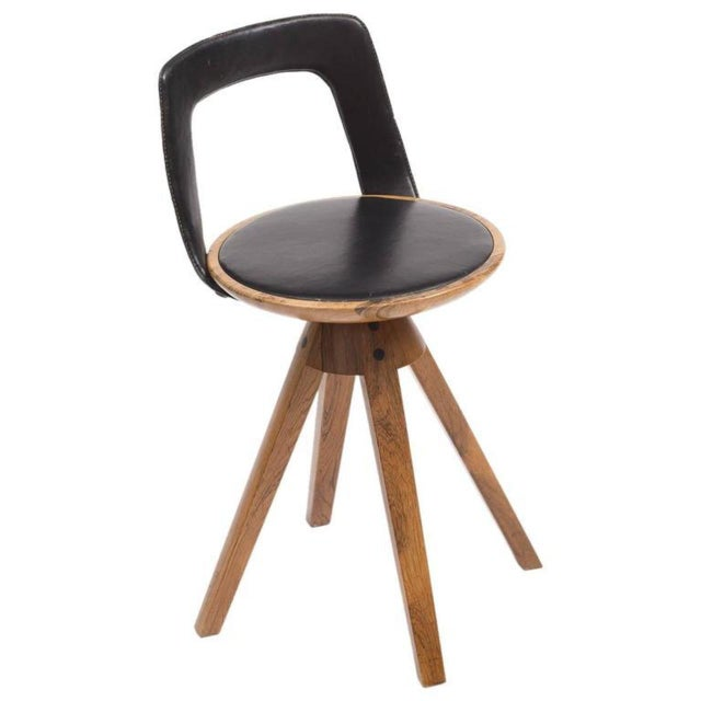Tove and Edvard Kindt-Larsen Swivel Stool in Rosewood, 1957 For Sale - Image 10 of 10