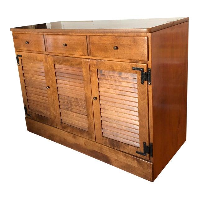Vintage Ethan Allen Wooden Dresser For Sale