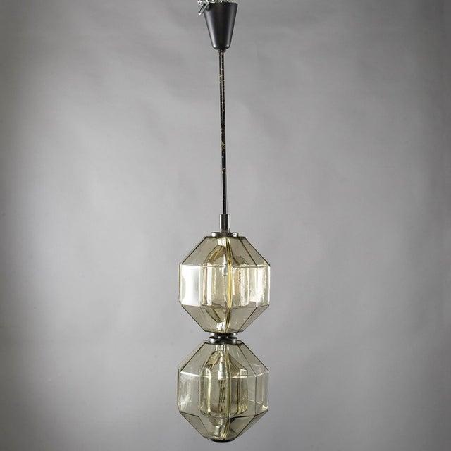 Vistosi Double Vessel Amber Glass Lantern For Sale - Image 10 of 10