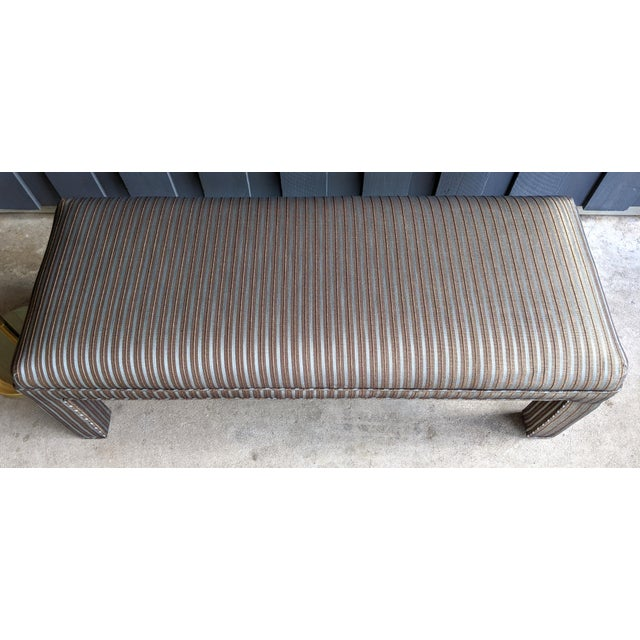 Charcoal 1980s Contemporary Parsons Bench For Sale - Image 8 of 12