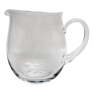 Blown Glass Cocktail Pitcher For Sale