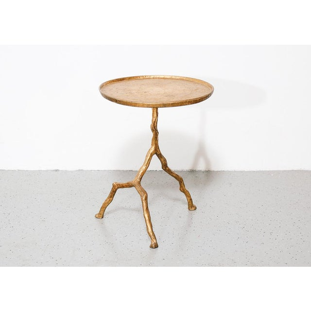 1970s Gilt Iron Branch Form Side Table For Sale - Image 5 of 5