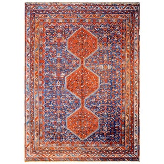 Outstanding Early 20th Century Khamseh Chicken Rug For Sale