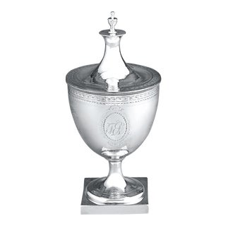 Hester Bateman Silver Sugar Bowl, Urn Form For Sale