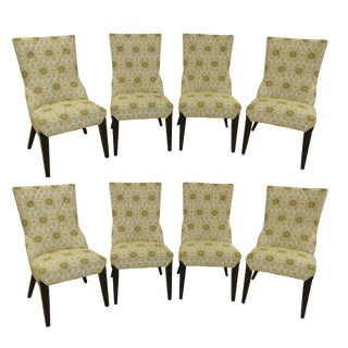Set of 8 Larry Laslo Directional Dining Side Chairs For Sale