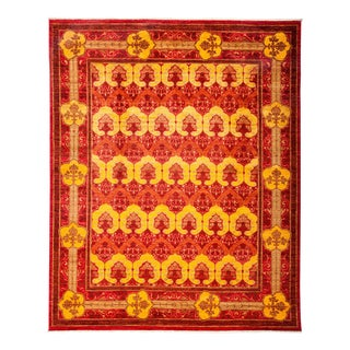 "Arts & Crafts Hand Knotted Area Rug - 8'1"" X 9'9"" For Sale"