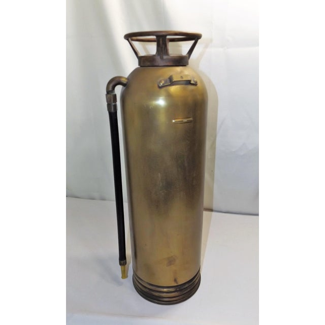 Vintage Brass Industrial Fire Extinguisher - Image 3 of 8