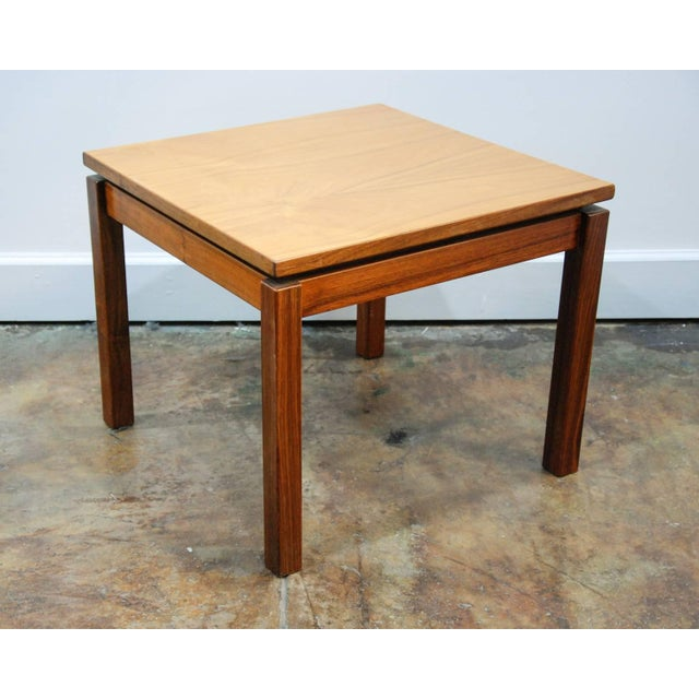 Wood 1970s Brazilian Jacaranda Wood Square Side Tables - a Pair For Sale - Image 7 of 8