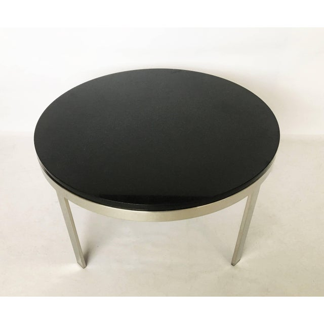 1970s Milo Baughman Style Chrome and Granite Top Coffee Table For Sale - Image 5 of 7