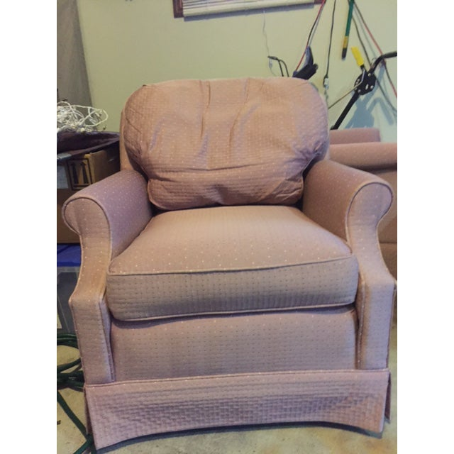 Mauve Ethan Allen Chairs - A Pair - Image 2 of 3