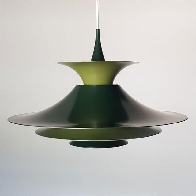 Danish Mid-Century Modern Radius 1 Pendant Lamp by Erik Balslev for Fog & Mørup For Sale - Image 11 of 11