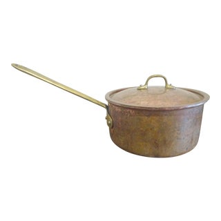 Portuguese Copper Sauce Pan With Lid