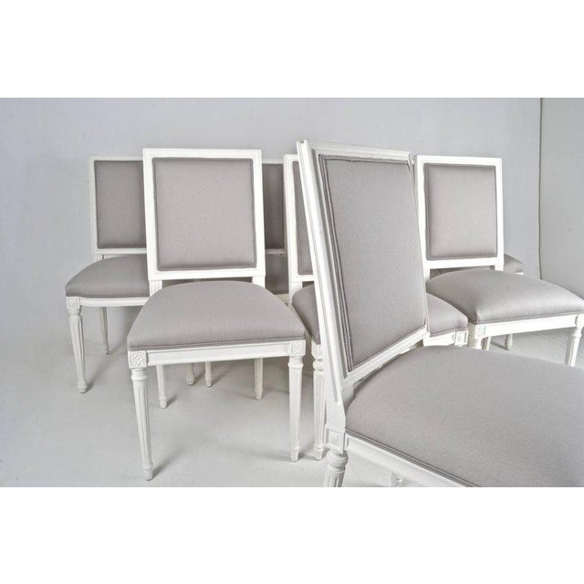 Louis XVI-Style Dining Chairs - Set of 8 - Image 3 of 8