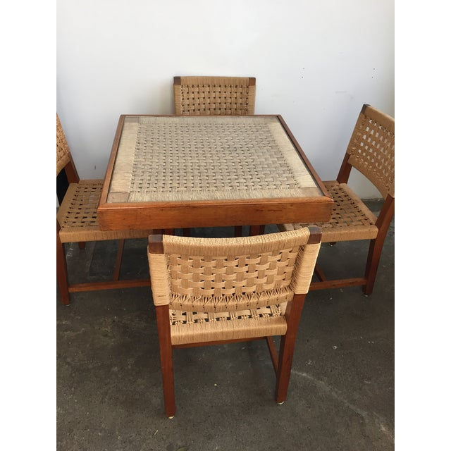 Mid Century Jute Dining Set For Sale In New York - Image 6 of 10