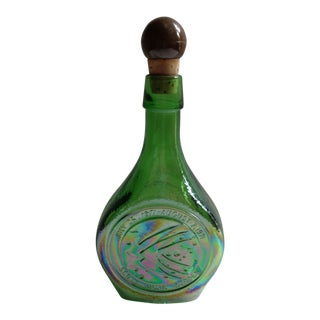 Vintage Apollo 15 Space Age Green Decanter Bottle For Sale