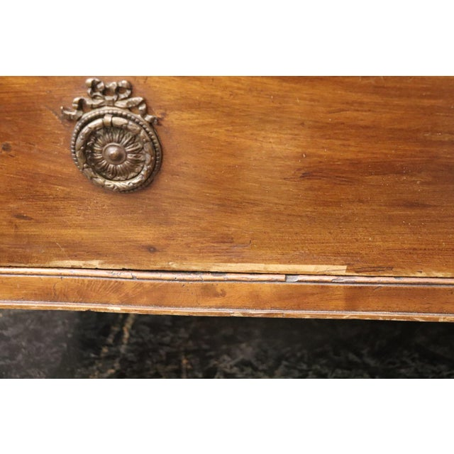 Brown 18th Century Italian Louis XVI Walnut Commode or Chest of Drawer For Sale - Image 8 of 13