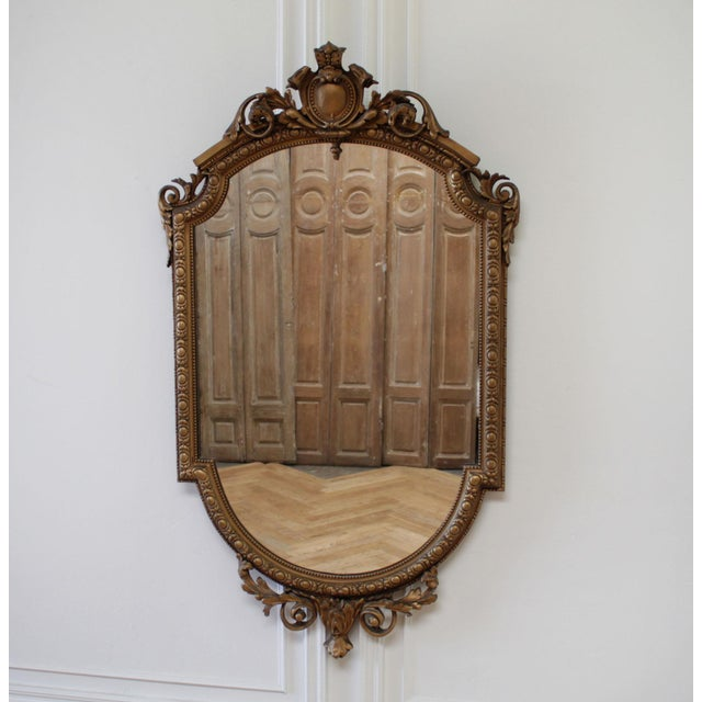 Wood Vintage Neoclassical Style Giltwood Mirror For Sale - Image 7 of 7