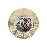Image of Antique Porcelain Royal Derby Bird Plate For Sale