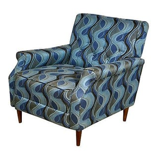 1960's Tufted Lounge Chair