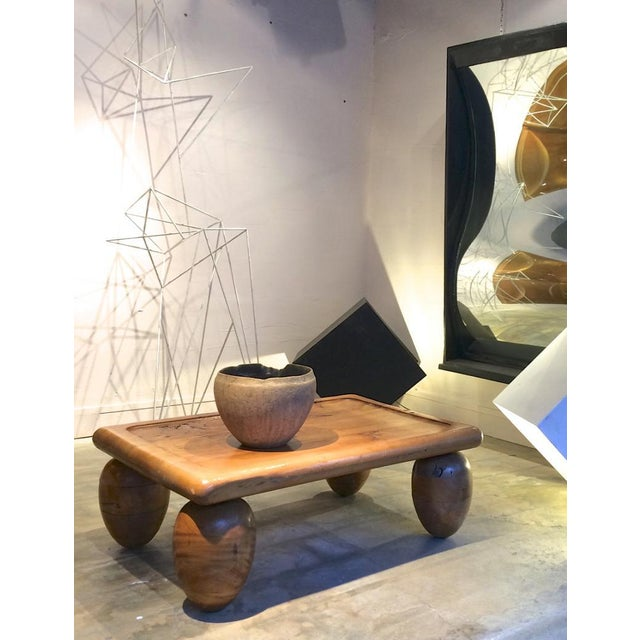 1950s Brutalist Coffee Table With Awesome Olive Shaped Leg For Sale - Image 5 of 7