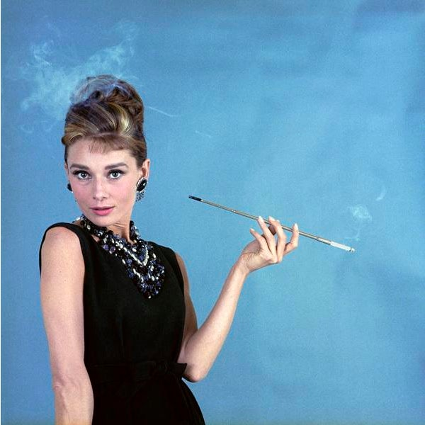 """Audrey Hepburn as Holly Golightly in """"Breakfast at Tiffany's"""" 1961 12x12 Canvas - Image 2 of 2"""
