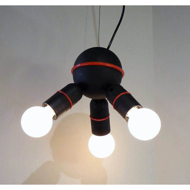 Roger Tallon for LIFA, French 70s Suspension Mod Op Pop Pendant For Sale - Image 10 of 10