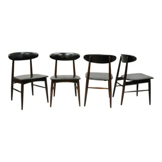 Set 4 Vintage Baumritter Roommates Mid Century Modern Danish Style Dining Chairs For Sale