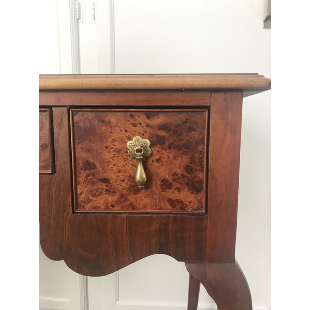 Gold 1950s Queen Ann Baker Furniture Walnut Console Table For Sale - Image 8 of 10