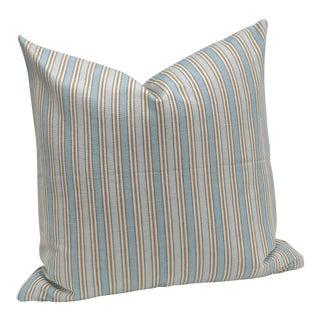 Light Blue Striped Pillow