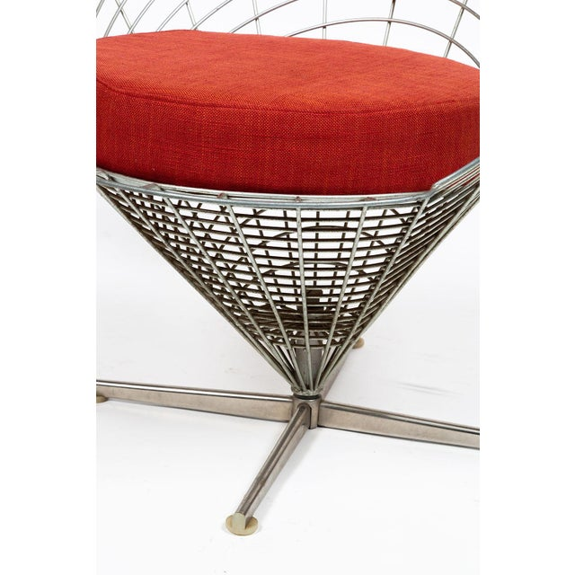 Red Vire Cone Chair by Verner Panton For Sale - Image 8 of 11