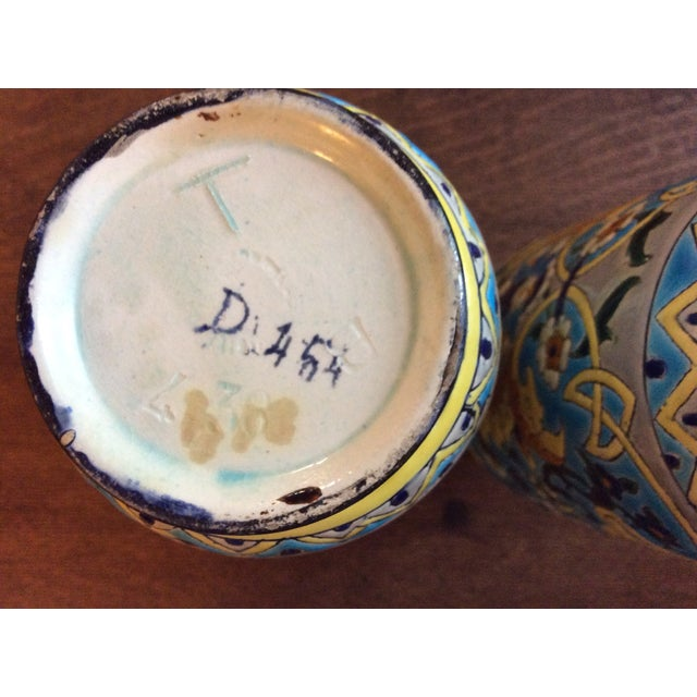 Late 19th Century 19th Century French Enameled Longwy Vases - a Pair For Sale - Image 5 of 12