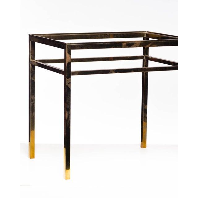 Lawrence & Scott Regalia Leather Box in Mahogany With Brass Stand as Side Table For Sale - Image 9 of 11