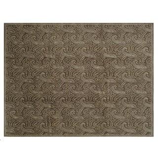 "Stark Studio Rugs Traditional Oriental Tibetan Wool and Silk Rug - 9' X 11'9"" For Sale"