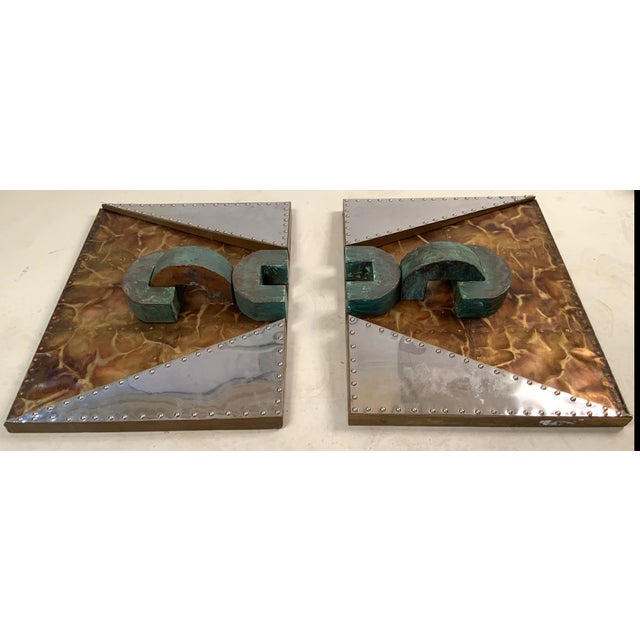 1970s 'Untitled' Wall Mounted Sculpture in Copper and Brass For Sale In New York - Image 6 of 9